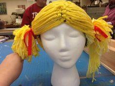 Making the Dulocian Wigs for Shrek The musical #shrekthemusical #shrekdiaries
