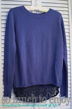 Morgani Lace Detail Button Back Sweater