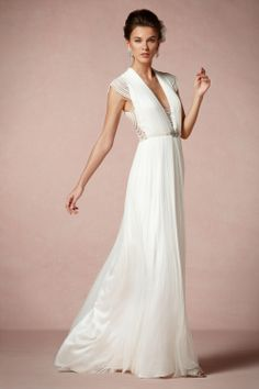 bhldn love the bead work on this gown! I bet the back is gorgeous!