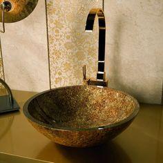 Bathroom sink | jebiga | #gold #luxury #chic