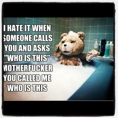 Love Ted the bear!