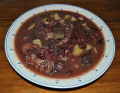 Sopa de Pedra, or Stone soup, is a famous Portuguese dish originating in the region of Almerim, and unlike its name, it has no stones involved in the dish.