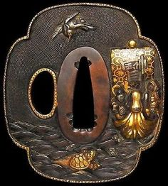 superb-mino-school-japanese-edo-18th-c-samurai-antique-tsuba-treasure-ship_291675583090.jpg (360×400)