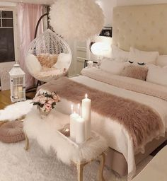 40 Cozy Home Decorating Ideas for Girls' Bedrooms. 40 Cozy Home Decorating Ideas for Girls' Bedrooms Bedroom Decor For Teen Girls, Room Ideas Bedroom, Cozy Bedroom Decor, Bed Room, Cute Bedroom Ideas For Teens, Ideas For Small Bedrooms, Warm Bedroom, Bedroom Bed, Square Bedroom Ideas