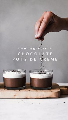 Pudding Desserts, Healthy Desserts, Delicious Desserts, Yummy Food, Vegan Pudding, Chocolate Pots, Best Chocolate, Healthy Chocolate Mousse, Fun Baking Recipes