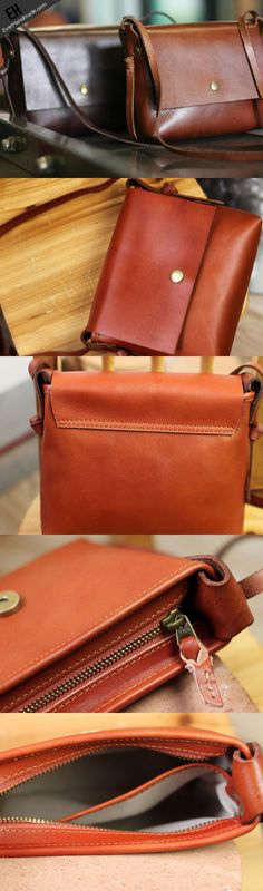 Handmade rustic leather Satchel School crossbody messenger Shoulder Ba | EverHandmade