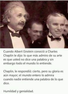 Einstein y Chaplin Smart Quotes, Me Quotes, Funny Quotes, Success, Spanish Quotes, Inspire Me, Cool Words, Life Lessons, Inspirational Quotes