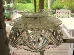 DIY lamp from crystal bowl