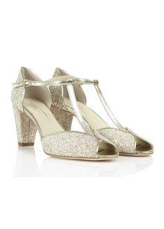 Sandales à paillettes Beige by ANNIEL