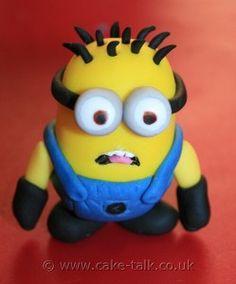 Despicable Me Minion Tutorial - How to Make a Fondant Minion - Cake Talk