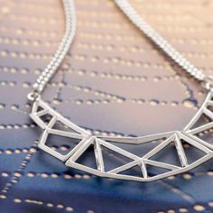 Inspired by: patterns in nature. (Shown: Burke Geometric Structure Statement Necklace). Madly in love with this.