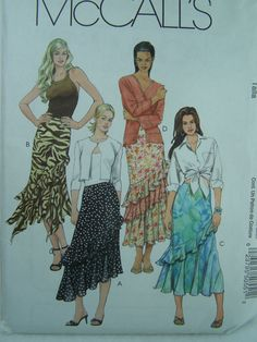 McCall's M5055 Sewing Pattern Misses' Boho Skirt by WitsEndDesign, $10.00