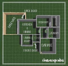 Two Story House Design, Sims 4 House Design, Tiny House Layout, House Layout Plans, Unique House Design, House Layouts, Tiny House Bedroom, Bedroom House Plans, Sims 4 House Plans