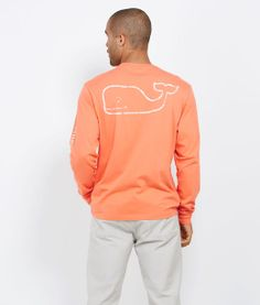 Long-Sleeve Vintage Whale Graphic T-Shirt for him.... Or me??