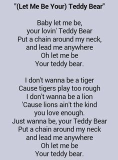 Wedding Photographers Near Me Great Song Lyrics, Music Lyrics, Love Songs, Music Songs, Elvis Presley Teddy Bear, Elvis Presley Songs, Teddy Bear Lyrics, Song Quotes, Music Quotes