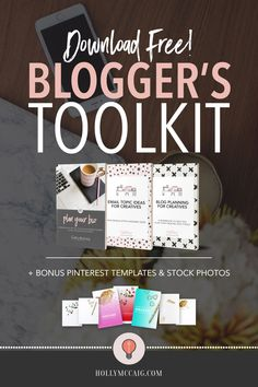 If you've been struggling with the overwhelm of creating a blog or being consistent with your content, or maybe you're just trying to quit your 9 to 5, I put together a free toolkit just for you! Come on over and download these three ebooks and bonus templates and stock photos to get you started. - https://hollymccaig.com/get-blogging-toolkit/