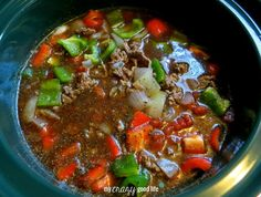 Stuffed Pepper Soup Recipe in crock pot
