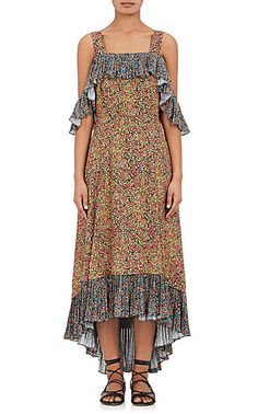 We Adore: The Garden-Print Crepe Off-The-Shoulder Dress from Philosophy di Lorenzo Serafini at Barneys New York
