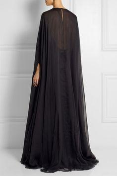 Valentino|Draped silk-chiffon gown|NET-A-PORTER.COM: