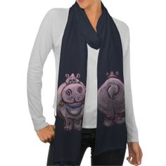 Hippopotamus Gifts & Accessories Scarf Wraps