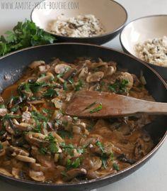 15 minute mushroom stroganoff