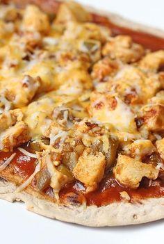 Skinny Chicken Enchilada Flatbread