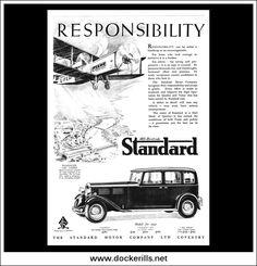 Standard Cars - Envoy, Ensign & Big Nine. Original Vintage Advert From June Poster Ads, Car Advertising, Motor Company, News Magazines, Vintage Cars, No Response, Magazine Art, June, Album
