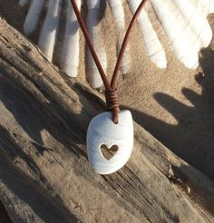 Scottish Shell Carved Heart Necklace by byNaturesDesign on Etsy, $16.00