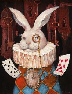 The White Rabbit from Alice in Wonderland by Vladimir Ovtcharov