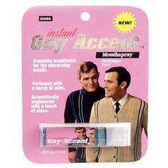 Blue Q Breath Spray - Gag Gifts Instant Gay Accent