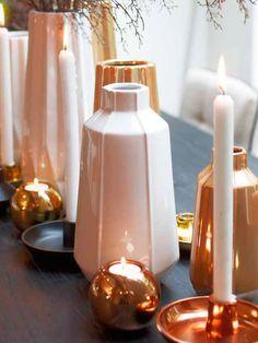 #Complementos en #cobre para la casa #adornos #velas