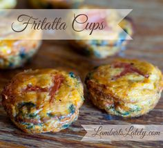 Fritatta Cups recipe...Would be perfect for Christmas morning. :)