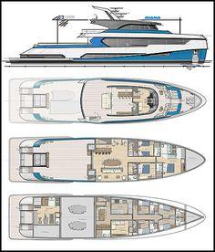 Yacht Design, Modern Exterior, Exterior Design, Monaco Yacht Show, Lower Deck, Best Positions, Photo Blue, Blue Angels, Design Process
