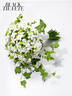 Jane Packer white stephanotis and freesia bridal bouquet, $500For information: jane-packer.co.uk