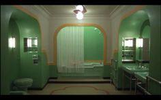Retro mint green bathroom
