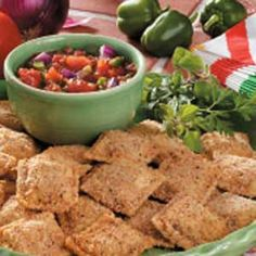 Breaded Ravioli. Baked instead of fried & served with an Italian salsa. Perfect for entertaining!
