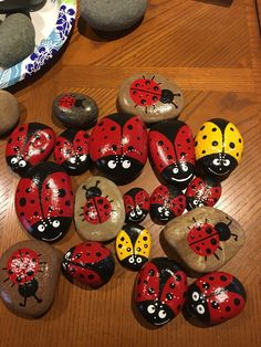 Hand painted rocks etsy rock painting patterns, rock painting d Rock Painting Patterns, Rock Painting Ideas Easy, Rock Painting Designs, Paint Designs, Art Patterns, Pebble Painting, Dot Painting, Pebble Art, Stone Painting