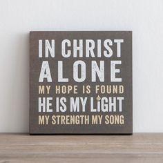 Lyrics for Life - In Christ Alone - Wall Art