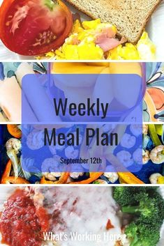 Having a meal plan is useless if you don't have time to make the meals you've planned. Check out these tips for easy school night meals and see what is on this week's menu.
