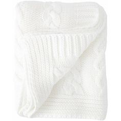 Cable Knit Throw in White design by Turkish-T ($88) ❤ liked on Polyvore featuring home, bed & bath, bedding, blankets, throws & blankets, cable knit blanket, cable knit throw, white throw blanket, cable knit throw blanket and white throw