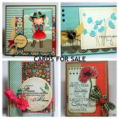 Stamp Happy: MORE Cards for Sale!