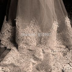 Vintage Lace Wedding Veil Extra Long Lace Hem One Layer 3m Appliqued Tulle Wedding Veil LBN 002 Bridal Accessories -in Bridal Veils from Weddings & Events on Aliexpress.com | Alibaba Group