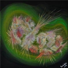Il baccello della vita.  Olio su tela. www.paolazolaimmaginieparole.it