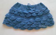 Детская юбочка крючком - работа Ярославской вязание и схемы вязания