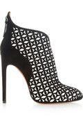 Alaïa|Laser-cut suede ankle boots|NET-A-PORTER.COM