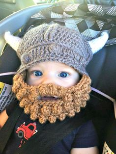 Vikings hat with beard, Mens viking hat, boys viking hat, crochet viking hat, viking helmet, hat with beard, bearded hat, novelty hat by madewiththekids on Etsy https://www.etsy.com/listing/399523661/vikings-hat-with-beard-mens-viking-hat