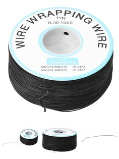 [Visit to Buy] 200M 30AWG Tin Plated Copper Wire Insulation Wrapping Cable Roll Black #Advertisement
