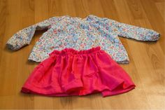 tunique basiques pour petites filles et jupe en lange fds