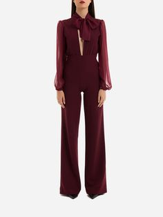 BURGUNDY JUMPSUIT | KAOA