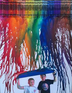 instead of this picture get a picture of us holding an umbrella Crayon Canvas Art, Crayon Painting, Music Canvas, Abstract Canvas Art, Crayon Crafts, Diy Crayons, Diy Art Projects Canvas, Wax Art, Paper Wall Art